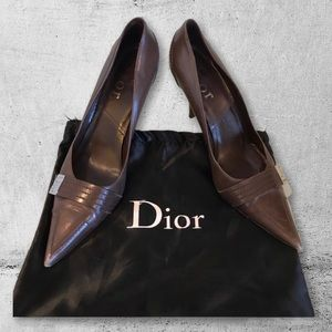 Authentic Dior Brown Shoes